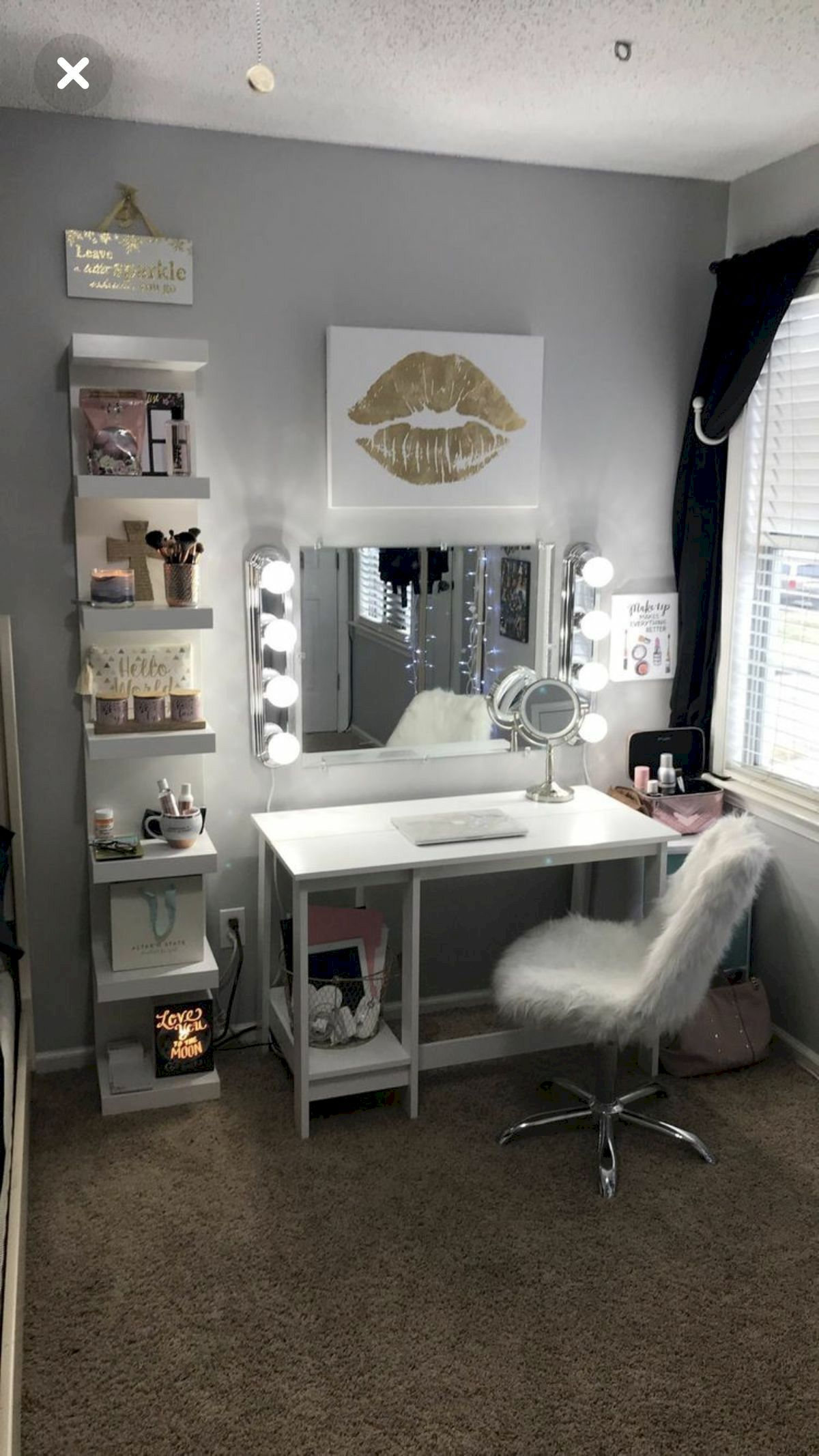 40 Beautiful Make Up Room Ideas in Your Bedroom (33)