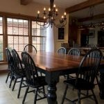 40 Adorable Farmhouse Dining Room Design And Decor Ideas (24)