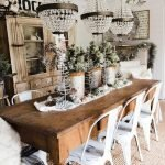 40 Adorable Farmhouse Dining Room Design And Decor Ideas (31)