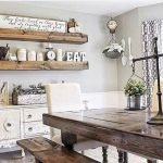 40 Adorable Farmhouse Dining Room Design and Decor Ideas (6)