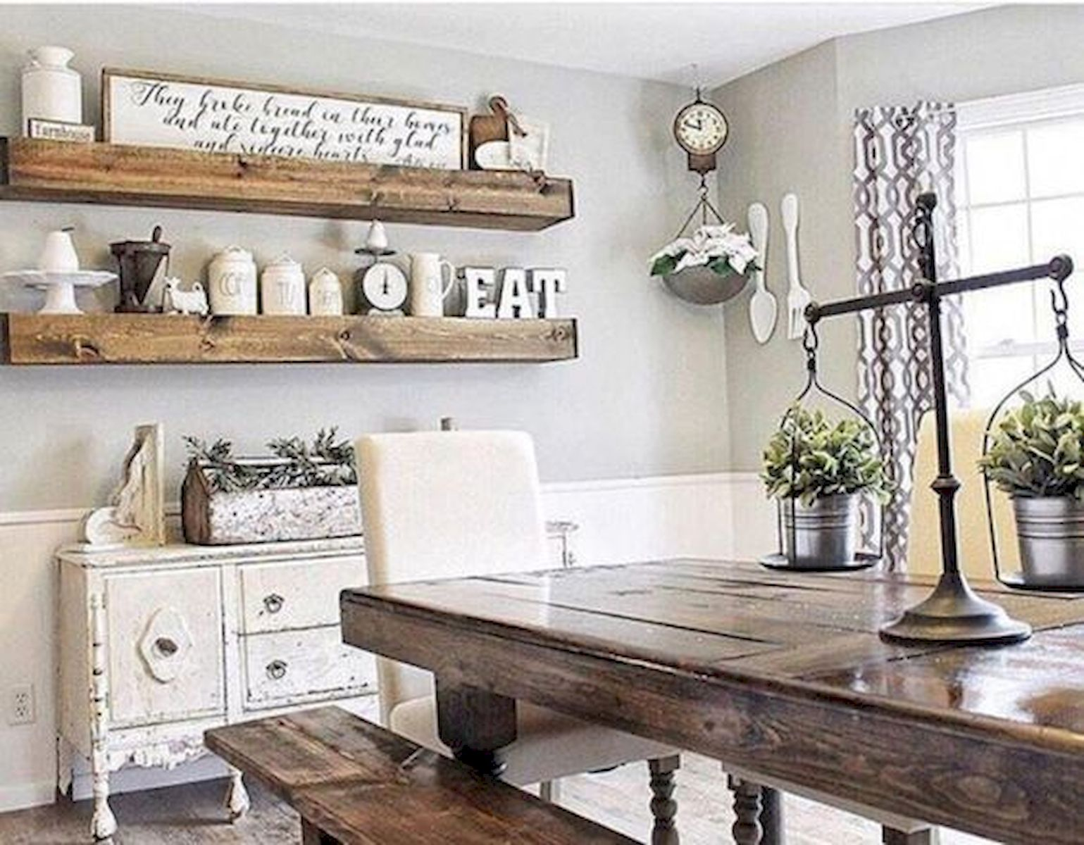 40 Adorable Farmhouse Dining Room Design and Decor Ideas ...