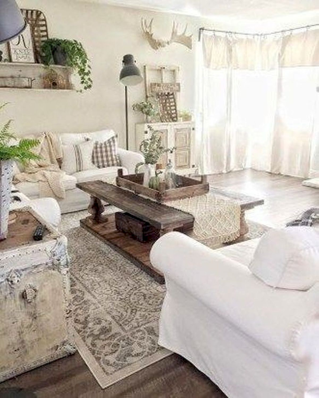 40+ Awesome Farmhouse Design Ideas For Living Room (41)