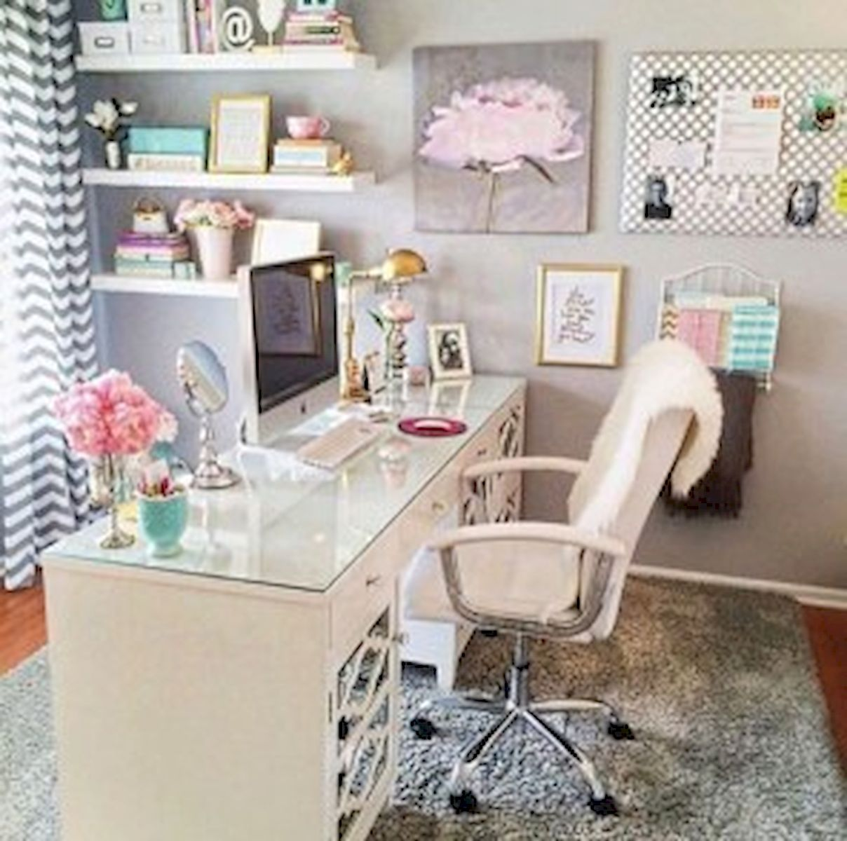 45 Adorable Home Office Decoration Ideas (22)