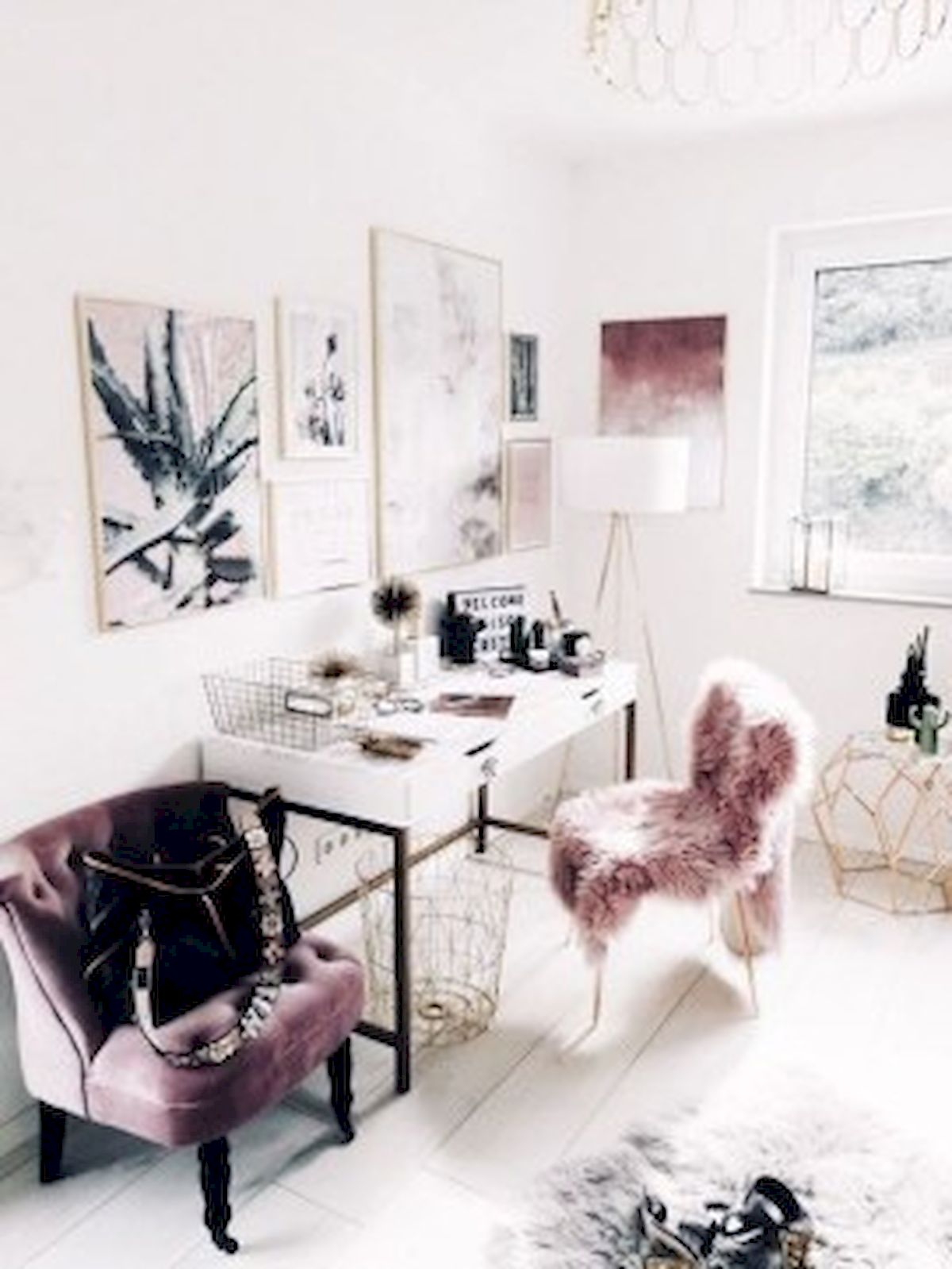 45 Adorable Home Office Decoration Ideas (39)