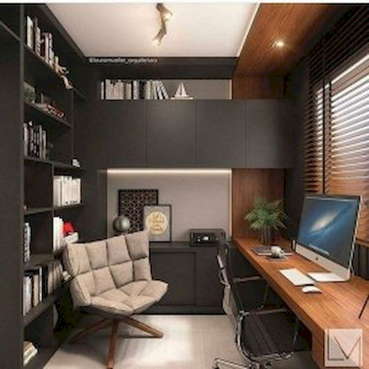 45 Adorable Home Office Decoration Ideas (41)
