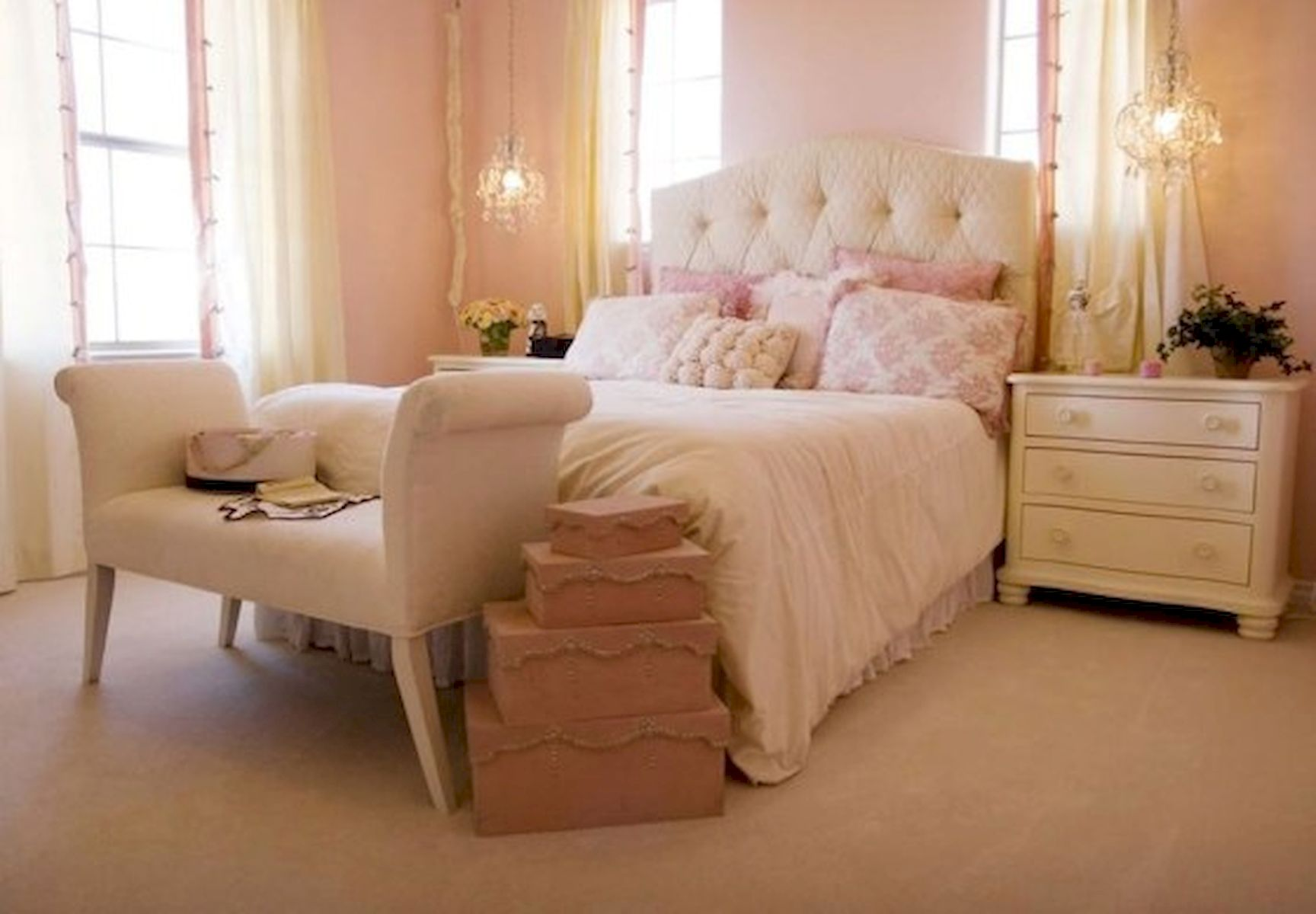 45 Cute Pink Bedroom Design Ideas (9)