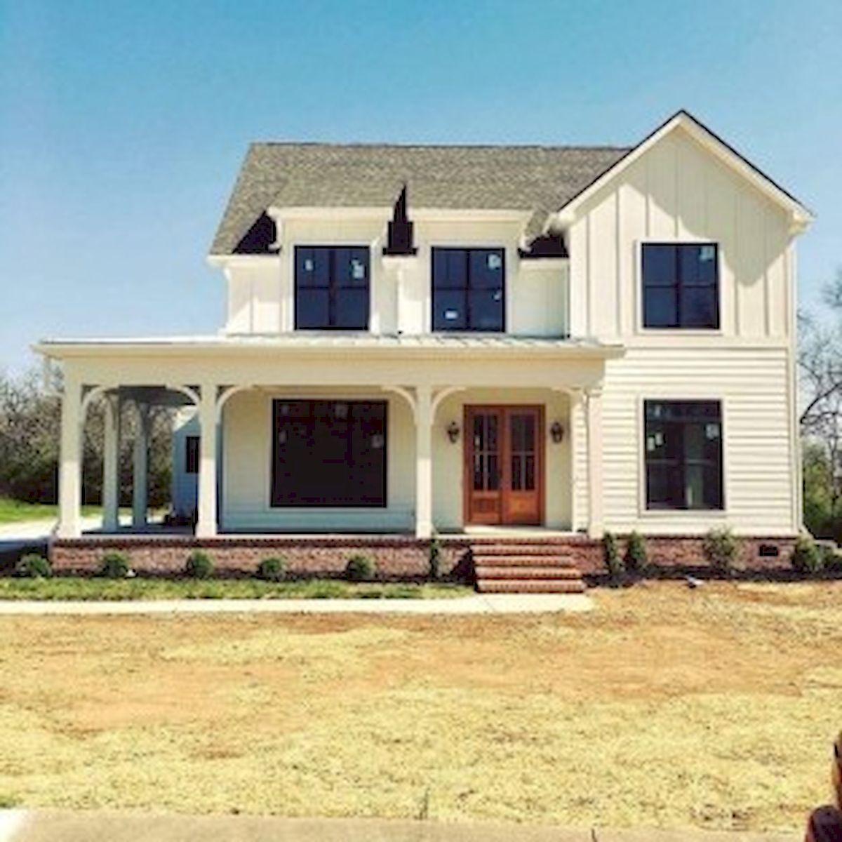 46 Awesome Farmhouse Home Exterior Design Ideas (3)