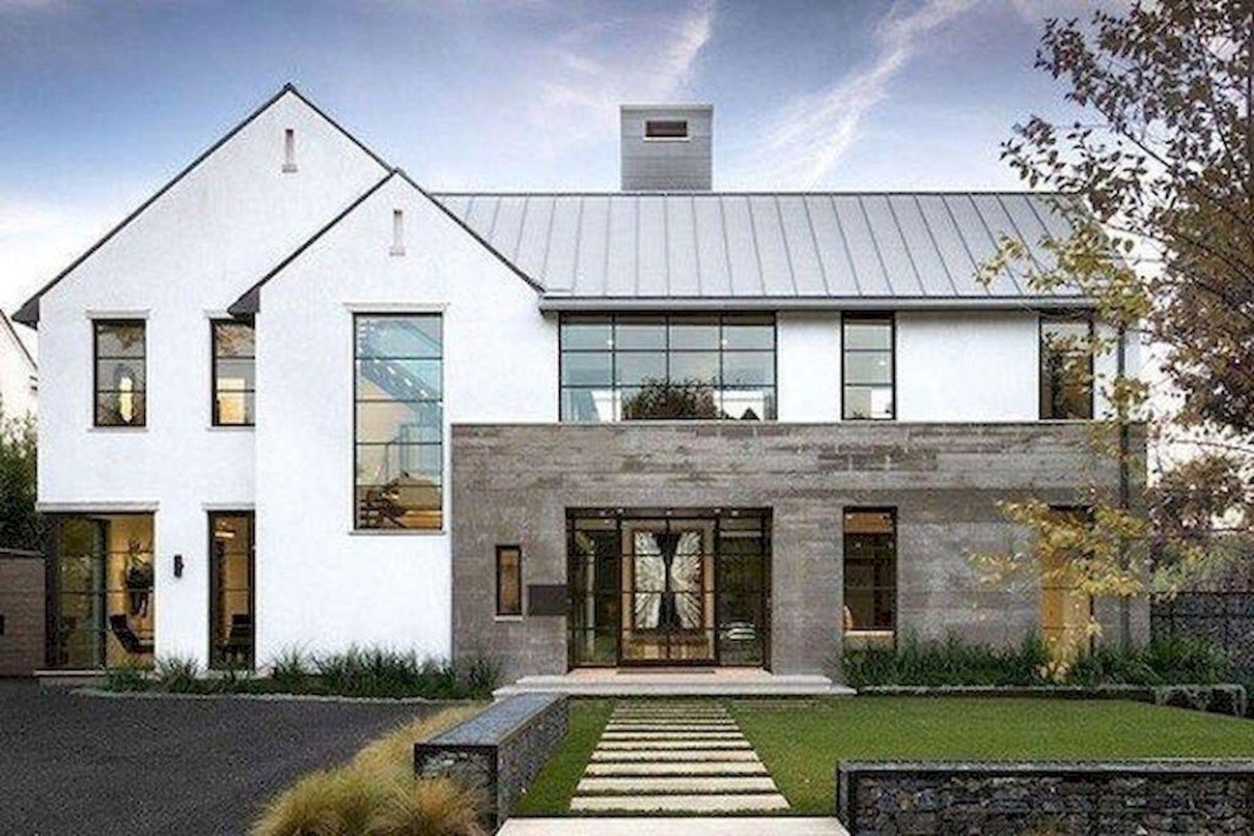 46 Awesome Farmhouse Home Exterior Design Ideas (31)