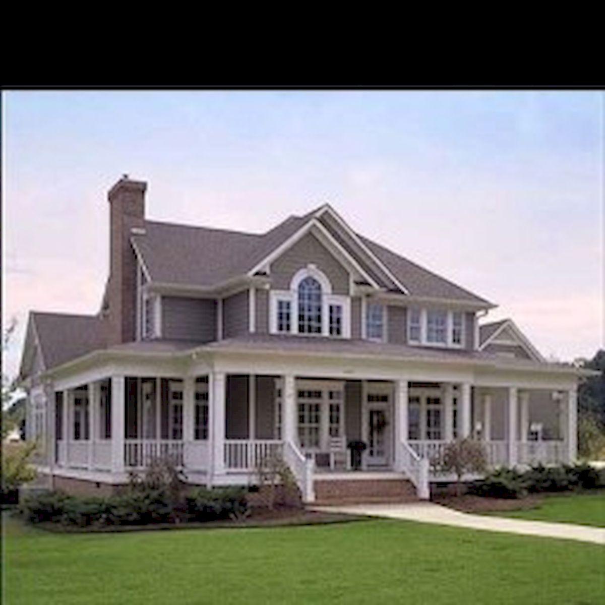 46 Awesome Farmhouse Home Exterior Design Ideas (36)