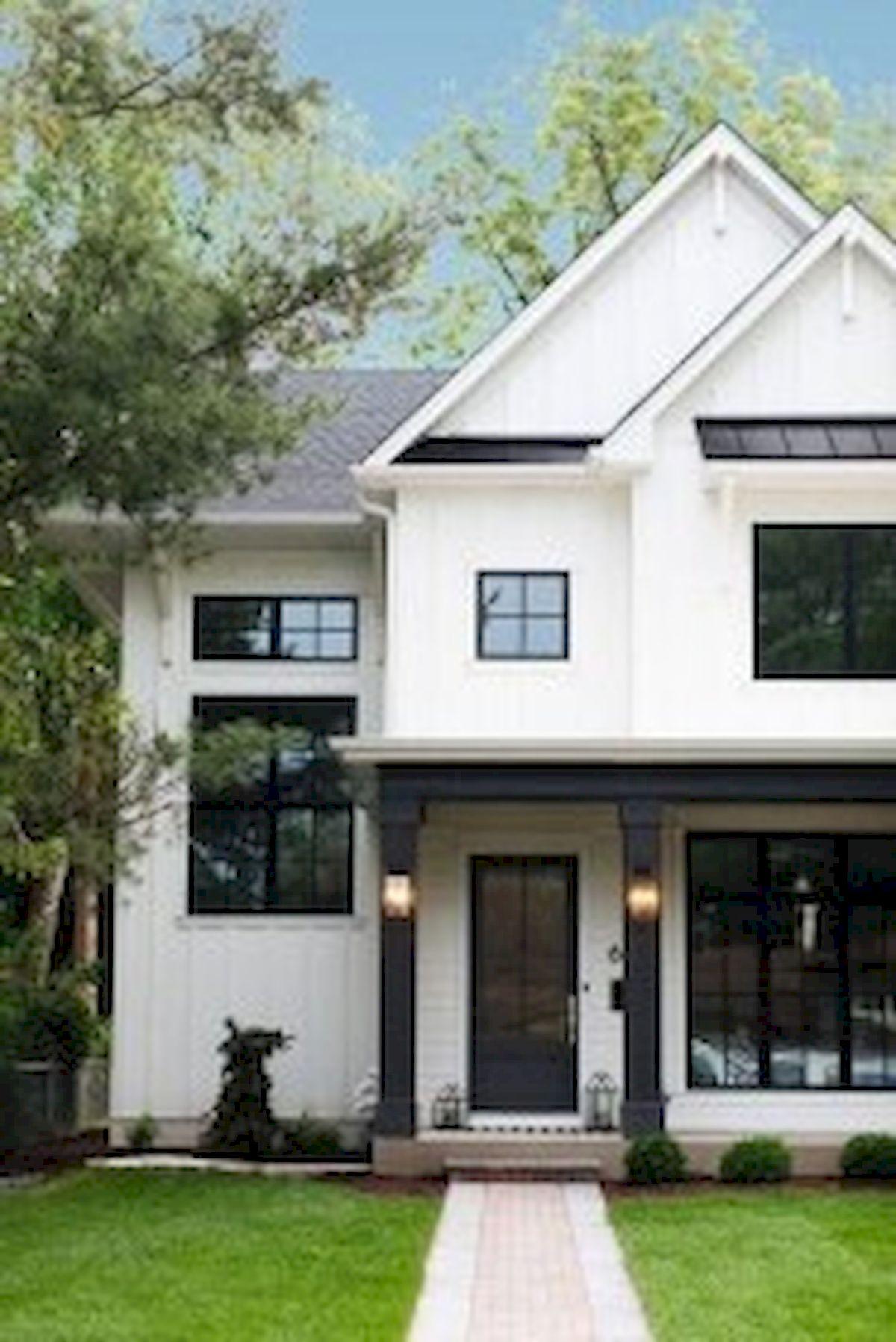 46 Awesome Farmhouse Home Exterior Design Ideas (5)