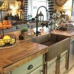 50 Cozy Farmhouse Kitchen Design and Decor Ideas (27)