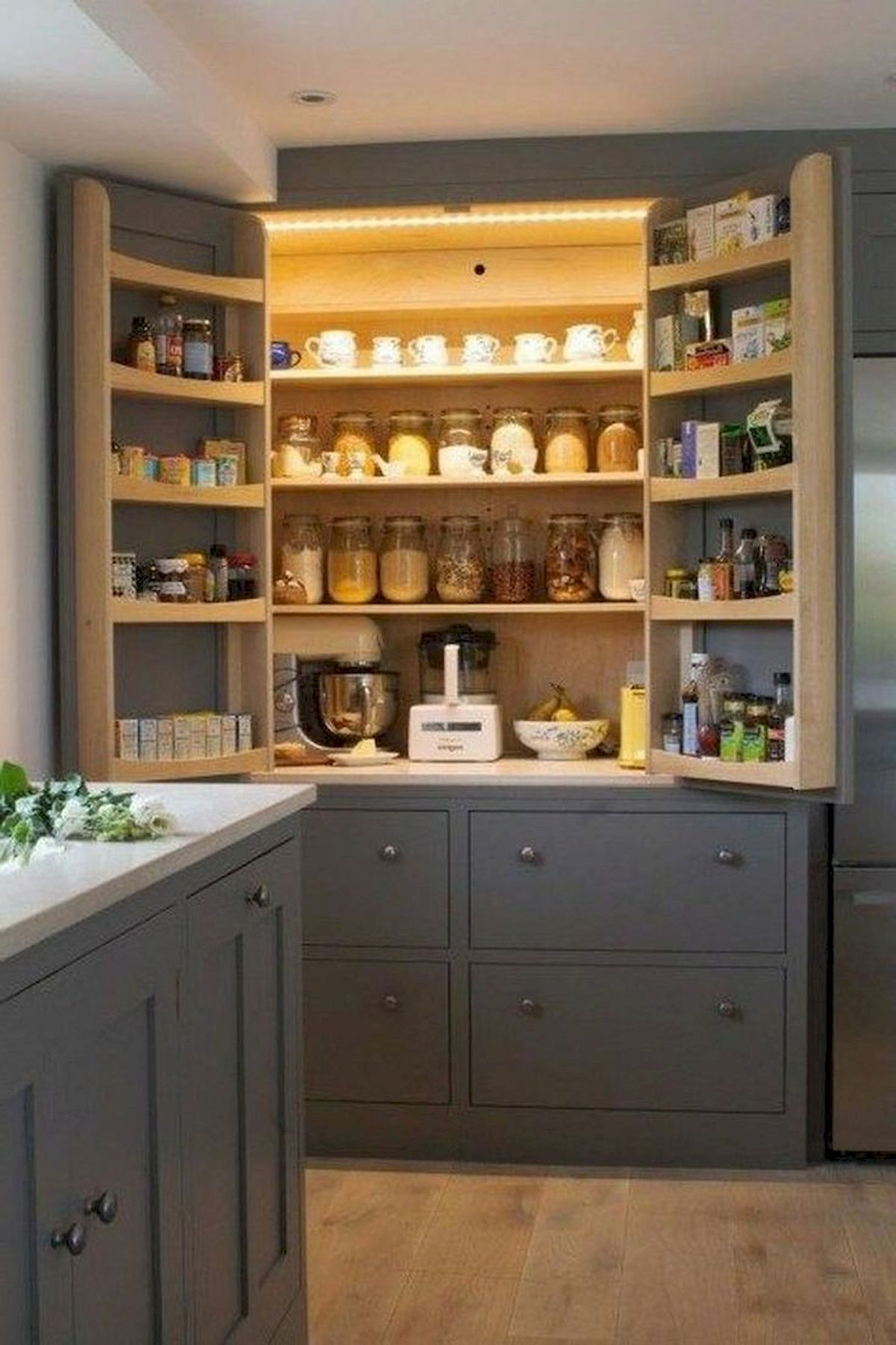 50 Cozy Farmhouse Kitchen Design And Decor Ideas (3)