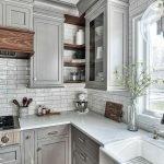 50 Cozy Farmhouse Kitchen Design and Decor Ideas (50)