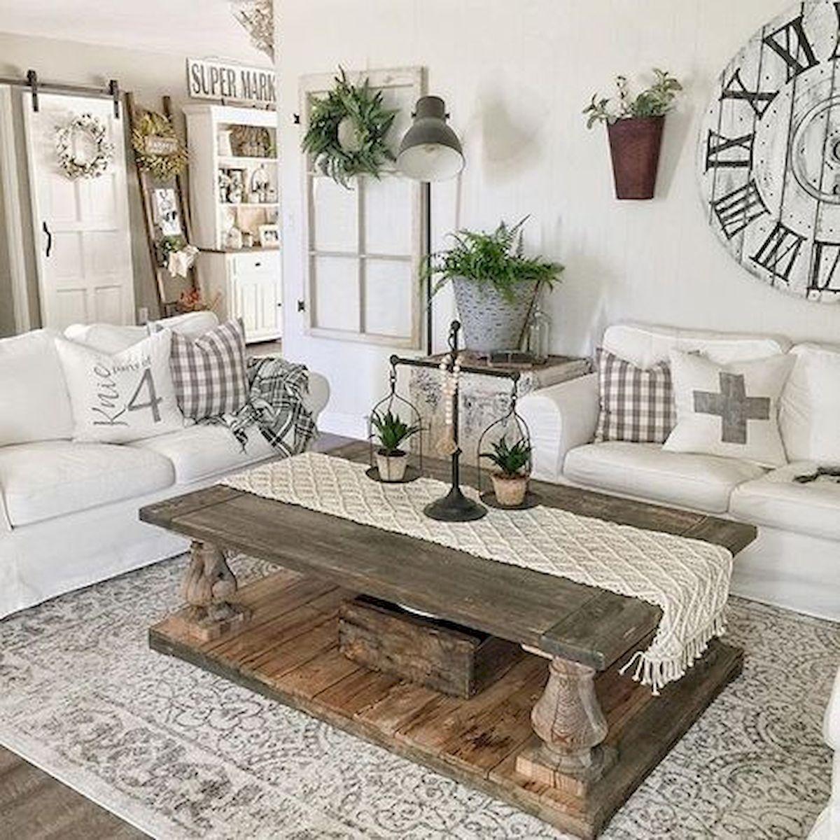 50 Cozy Farmhouse Living Room Design and Decor Ideas (1)