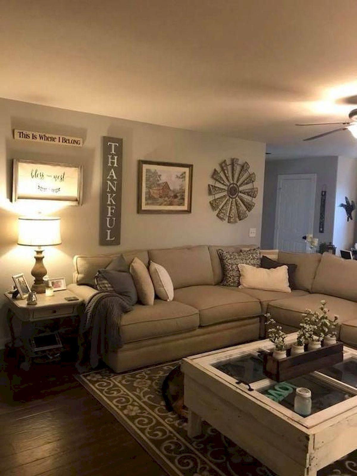 50 Cozy Farmhouse Living Room Design and Decor Ideas (11)