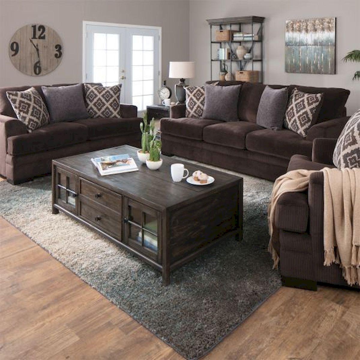 50 Cozy Farmhouse Living Room Design and Decor Ideas (12)