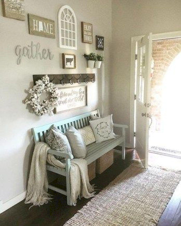 50 Cozy Farmhouse Living Room Design and Decor Ideas (13)