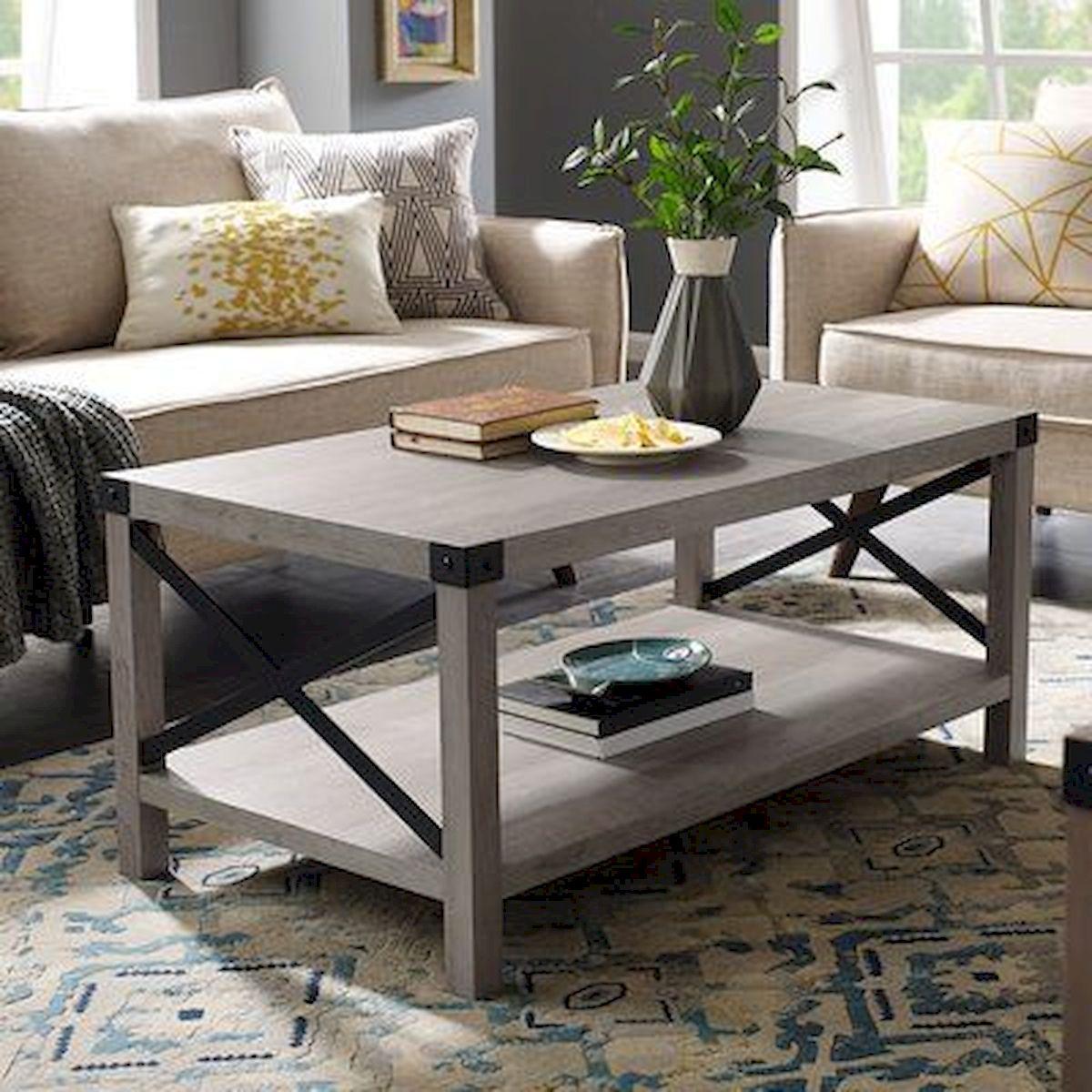 50 Cozy Farmhouse Living Room Design and Decor Ideas (19)