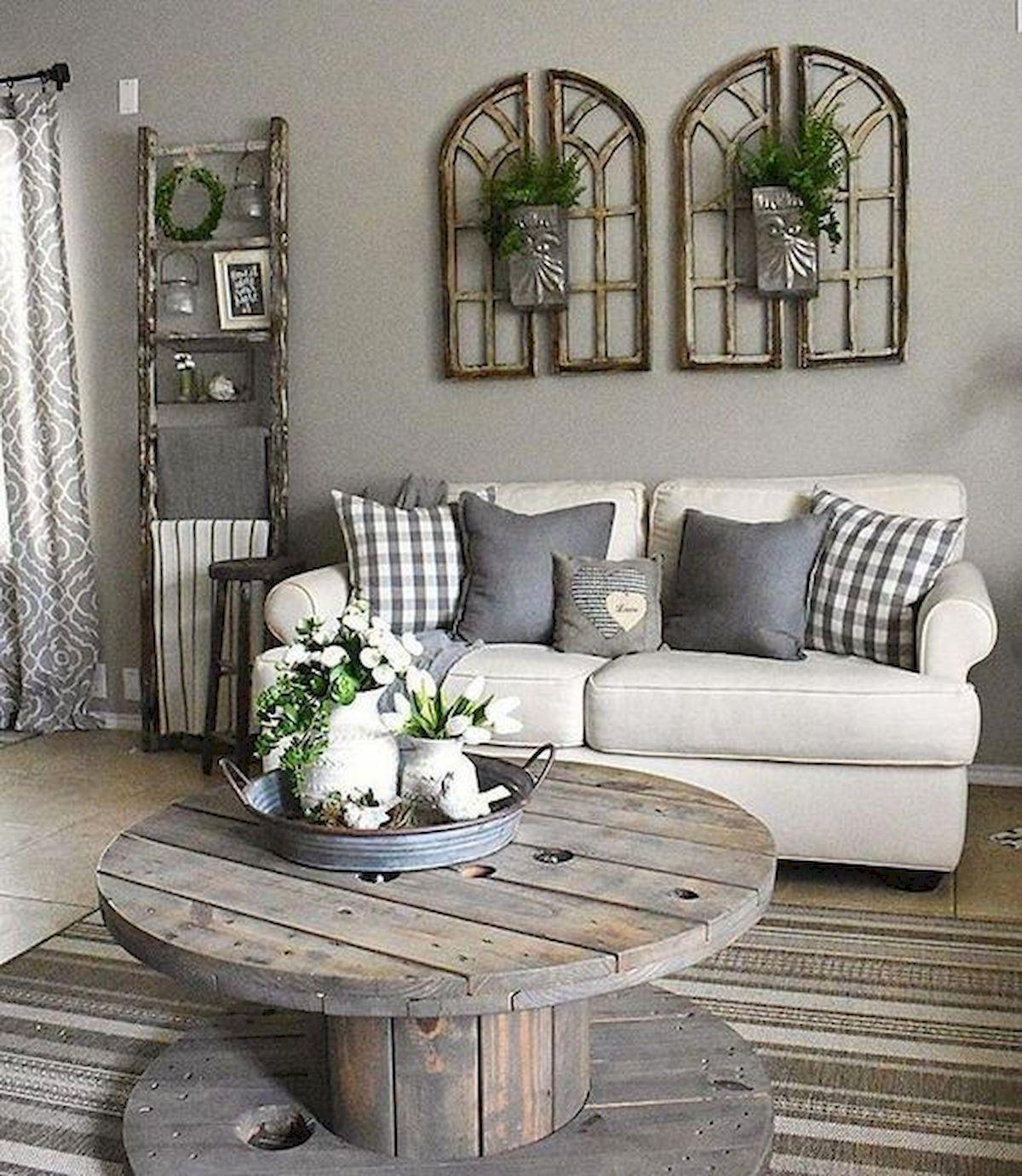 50 Cozy Farmhouse Living Room Design And Decor Ideas (2)