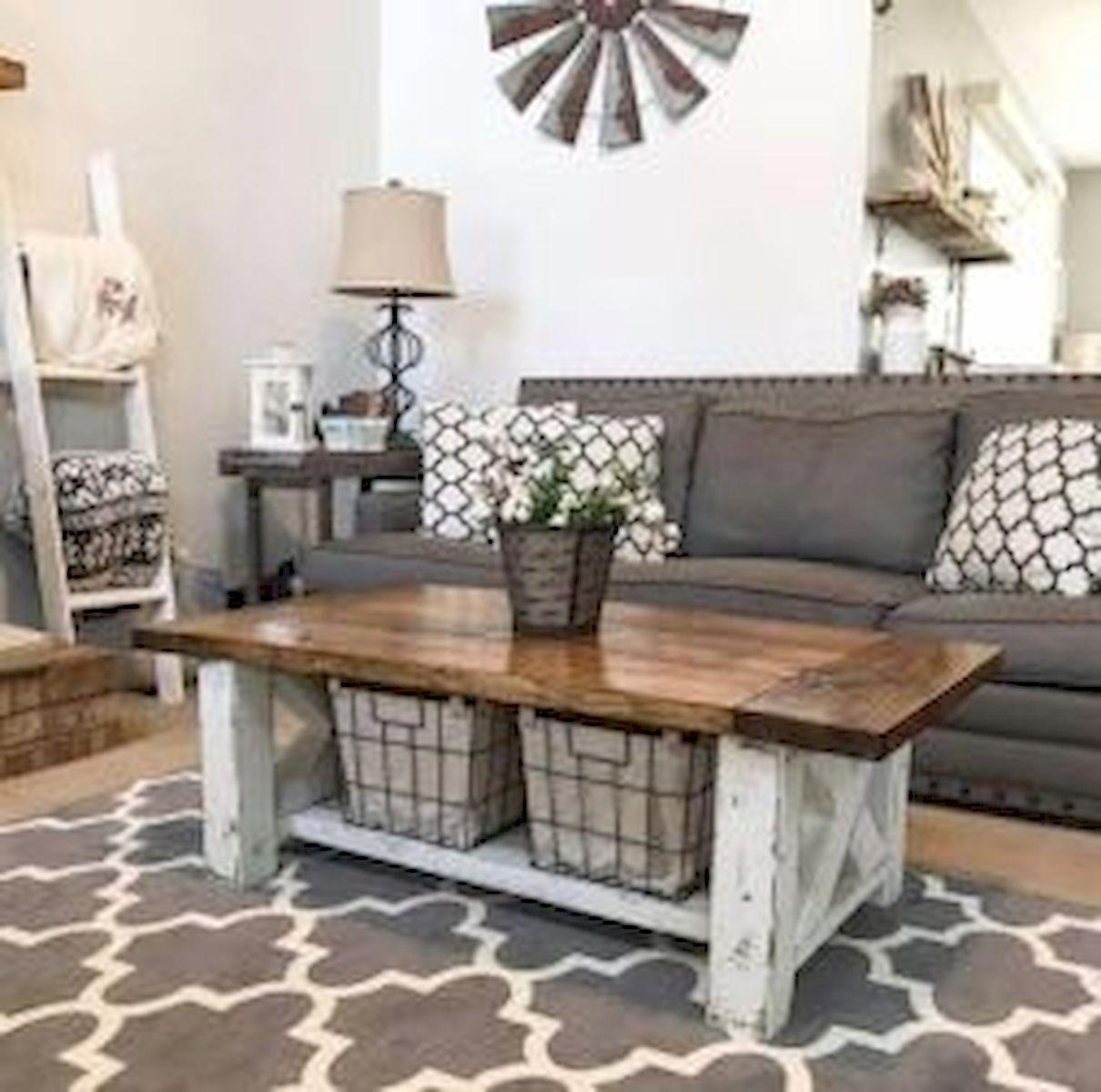 50 Cozy Farmhouse Living Room Design and Decor Ideas (20)