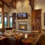 50 Cozy Farmhouse Living Room Design And Decor Ideas (25)
