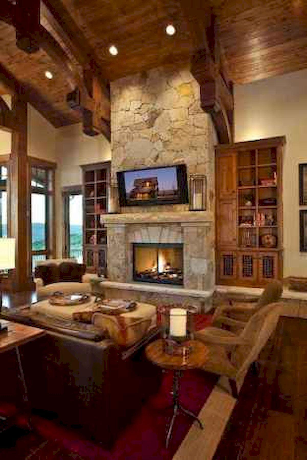 50 Cozy Farmhouse Living Room Design and Decor Ideas (25)
