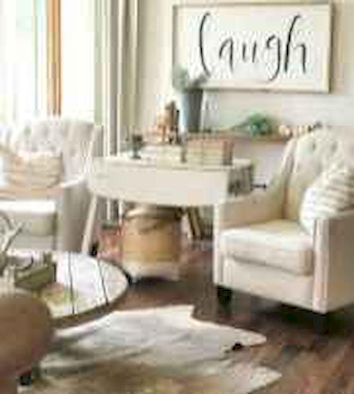 50 Cozy Farmhouse Living Room Design and Decor Ideas (29)