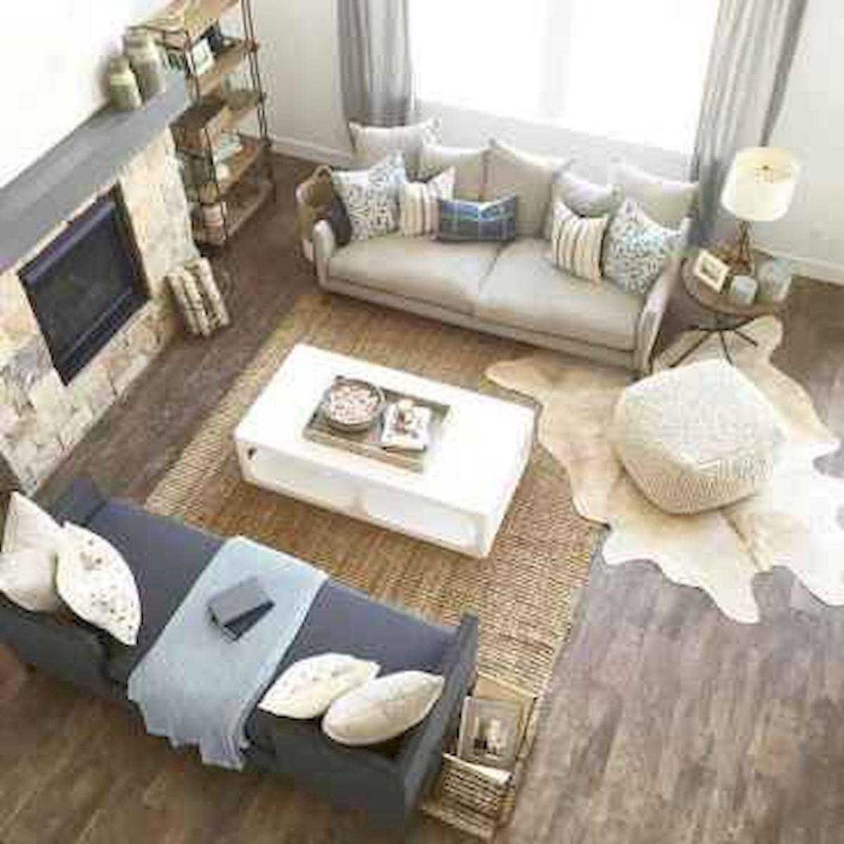 50 Cozy Farmhouse Living Room Design and Decor Ideas (30)