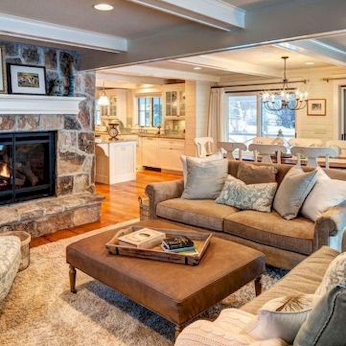 50 Cozy Farmhouse Living Room Design and Decor Ideas (32)