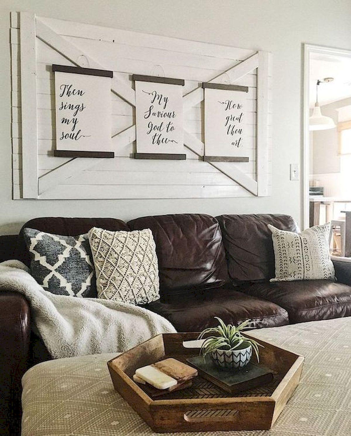 50 Cozy Farmhouse Living Room Design and Decor Ideas (42)