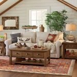 50 Cozy Farmhouse Living Room Design And Decor Ideas (44)