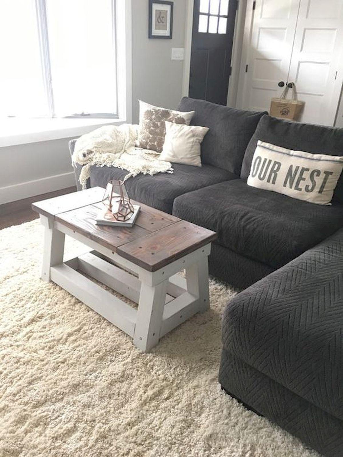 50 Cozy Farmhouse Living Room Design and Decor Ideas (46)