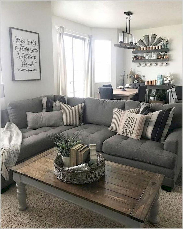 50 Cozy Farmhouse Living Room Design and Decor Ideas (48)