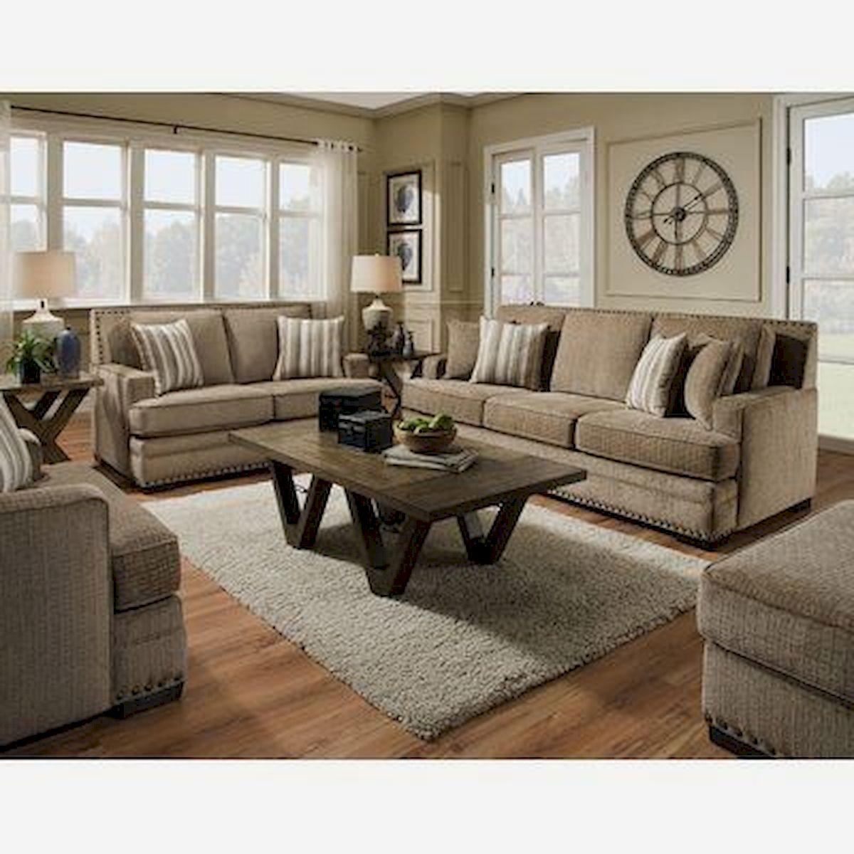 50 Cozy Farmhouse Living Room Design and Decor Ideas (50)