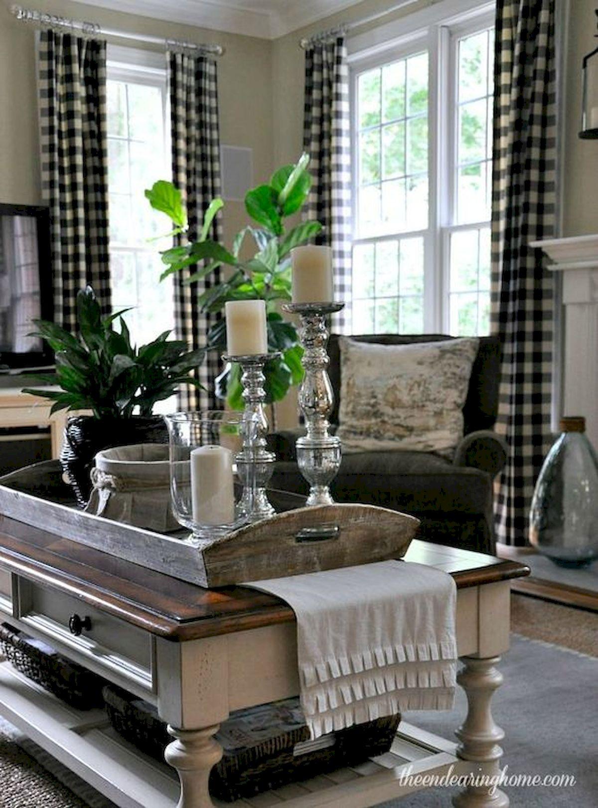 50 Cozy Farmhouse Living Room Design and Decor Ideas (8)