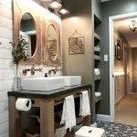 60 Stunning Farmhouse Bathroom Decor and Design Ideas (15)