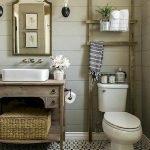 60 Stunning Farmhouse Bathroom Decor and Design Ideas (43)