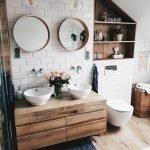 60 Stunning Farmhouse Bathroom Decor and Design Ideas (45)