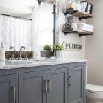 60 Stunning Farmhouse Bathroom Decor and Design Ideas (47)