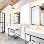 60 Stunning Farmhouse Bathroom Decor and Design Ideas (49)