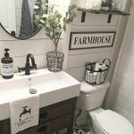 60 Stunning Farmhouse Bathroom Decor and Design Ideas (53)