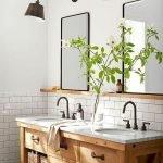 60 Stunning Farmhouse Bathroom Decor and Design Ideas (59)