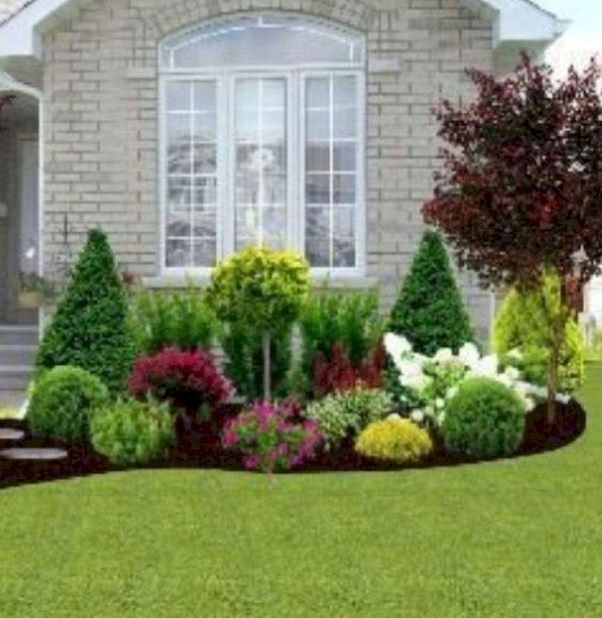 35 Awesome Front Yard Garden Design Ideas - house8055.com