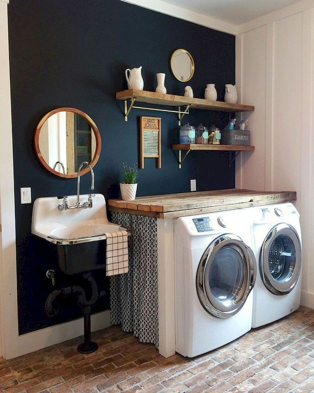 40 Cozy Laundry Room Design And Decor Ideas For Your Home (3)