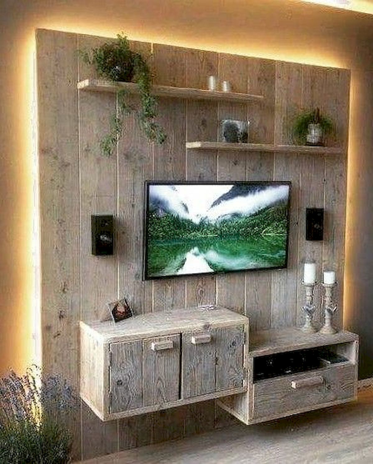 50 Awesome Pallet Furniture TV Stand Ideas For Your Room Home (4)