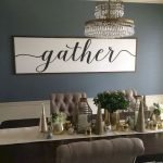 50 Awesome Wall Decoration Ideas For Dinning Room (30)