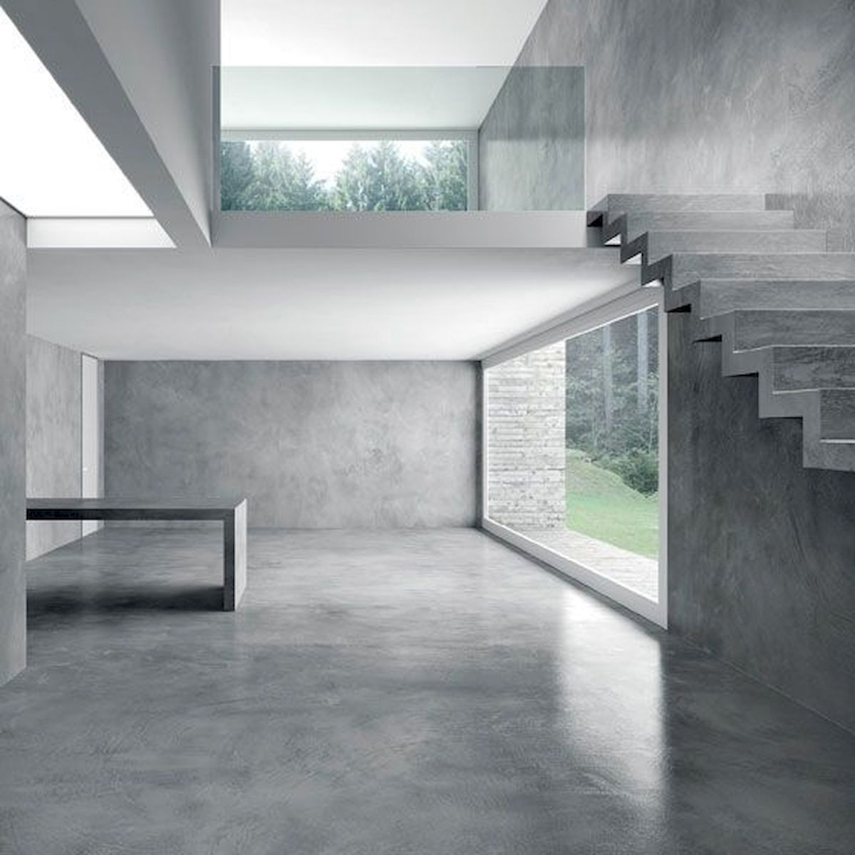 70 Smooth Concrete Floor Ideas for Interior Home (64)
