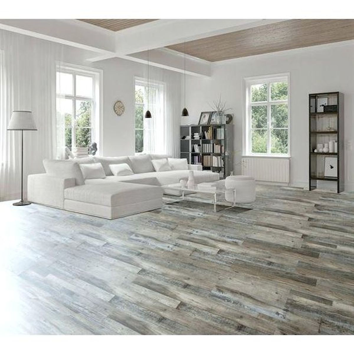 80 Gorgeous Hardwood Floor Ideas for Interior Home (61)