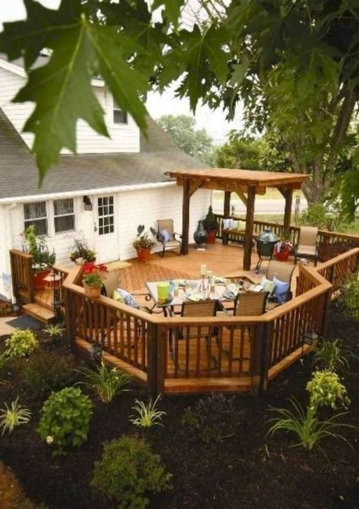 50 Fantastic Backyard Patio and Decking Design Ideas (24)