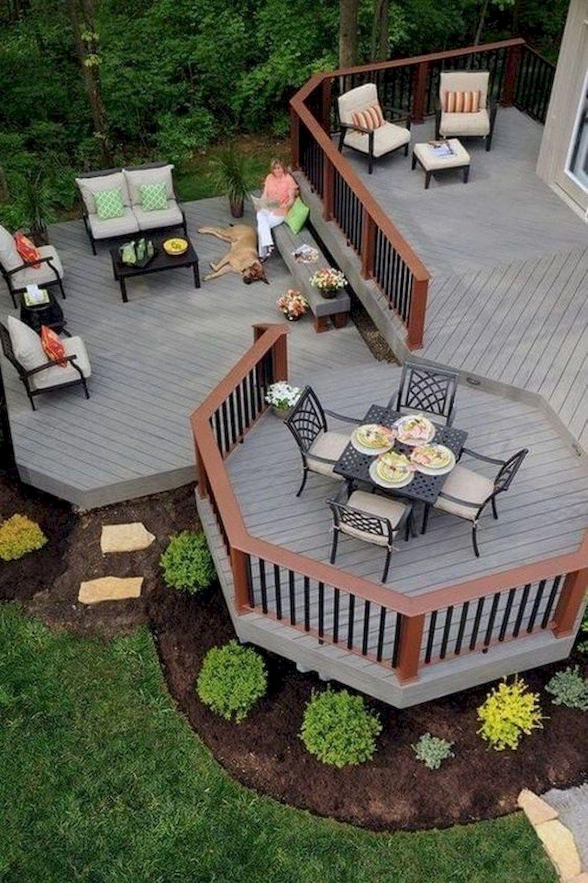 50 Fantastic Backyard Patio and Decking Design Ideas (46)